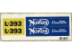 Part No: 393.1stk01  Name: Sticker for Set 393-1 - (004847)