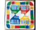 Part No: 4221674  Name: Plastic Playmat Duplo, Houses, Brushes and Game Road Pattern - Set 9040