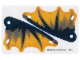 Part No: 54255pb02  Name: Plastic Triangle 6 x 12 Scalloped Wing with Wyvern Dragon Wing Pattern