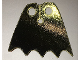 Part No: 56630pb02  Name: Minifigure, Cape Cloth, Scalloped 5 Points (Batman) - Traditional Starched Fabric, Metallic Gold and Black Sides