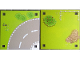 Part No: 6199522  Name: Paper, Playmat Friends Heartlake City, Double-Sided, Curve #2 / Grass with white Fence (853671)