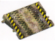 Part No: 8165cdb01  Name: Paper, Plastic Laminated, Ramp with Black and Yellow Danger Stripes and Tire Tracks for Set 8165 (84605/4540612)