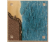 Part No: 853841cdb02  Name: Paper, Playmat Sea, Double-Sided, Water/Water with Curved Coast (853841)