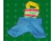 Part No: scl034  Name: Scala, Clothes Baby Overalls Striped Top, Blue Legs