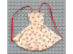 Part No: x32px2  Name: Scala, Clothes Female Dress with Red/White Flower Pattern