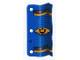 Part No: x55  Name: Plastic Flag 3 x 6 Ninja Pattern Blue