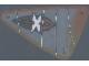 Part No: x772px1  Name: Plastic Triangle 9 x 15 Sail with Island Xtreme Stunts Logo Pattern