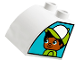 Part No: 11170pb02  Name: Duplo, Brick 2 x 2 x 1 1/2 with Curved Top with Boy on One Side and Girl on Other Side Pattern