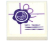 Part No: 11203pb026  Name: Tile, Modified 2 x 2 Inverted with Dark Purple Seal and Medium Lavender String Pattern (Sticker) - Set 41176