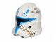 Part No: 11217pb02  Name: Minifigure, Headgear Helmet SW Captain Rex with Blue and Tan Markings and Killed Enemies Count Pattern