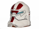 Part No: 11217pb04  Name: Minifigure, Headgear Helmet SW Jek-14 with Light Blue Visor and Dark Red Pattern