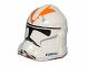 Part No: 11217pb11  Name: Minifigure, Headgear Helmet SW Clone Trooper with Orange 212th Battalion Pattern