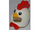 Part No: 11262pb01  Name: Minifigure, Headgear Mask Chicken with Yellow Beak and Red Comb and Wattles Pattern