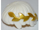 Part No: 11264pb01  Name: Minifig, Hair Short, Straight Cut Fringe with Gold Laurel Wreath Pattern