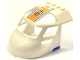 Part No: 11293pb002  Name: Aircraft Fuselage Curved Forward 6 x 8 Top with Coast Guard Logo on Orange Background and Blue Lines Pattern on Both Sides (Stickers) - Set 60013