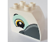 Part No: 11344pb006  Name: Duplo, Brick 2 x 3 x 2 with Curved Top with Bird Head on Both Sides Pattern