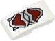 Part No: 11477pb010  Name: Slope, Curved 2 x 1 No Studs with Silver and Dark Red Wolf Armor Pattern (Sticker) - Set 70127