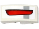 Part No: 11477pb021R  Name: Slope, Curved 2 x 1 No Studs with Light Bluish Gray Stripe and Red Taillight Pattern Model Right Side (Sticker) - Set 75912