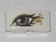Part No: 11477pb051L  Name: Slope, Curved 2 x 1 No Studs with Left Eye, Metallic Gold Pattern