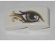 Part No: 11477pb051R  Name: Slope, Curved 2 x 1 No Studs with Right Eye, Metallic Gold Pattern