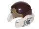 Part No: 11538pb03  Name: Minifigure, Headgear Helmet SW Rebel with Dark Brown and Dark Tan Pattern