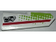 Part No: 11946pb024  Name: Technic, Panel Fairing #21 Very Small Smooth, Side B with Red Stripe, Lime Dots and 'TRANS missions' Pattern (Sticker) - Set 42065