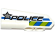Part No: 11947pb017  Name: Technic, Panel Fairing #22 Very Small Smooth, Side A with Silver Star, 'POLICE' and Blue and Lime Danger Stripes Pattern (Sticker) - Set 42047