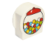 Part No: 14222pb010  Name: Duplo, Brick 1 x 3 x 2 Round Top, Cut Away Sides with Gumball Machine Pattern