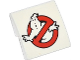 Part No: 15068pb005  Name: Slope, Curved 2 x 2 No Studs with Ghostbusters Logo Pattern