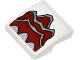Part No: 15068pb014  Name: Slope, Curved 2 x 2 No Studs with Silver and Dark Red Paw Pattern (Sticker) - Set 70127
