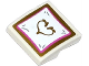 Part No: 15068pb020  Name: Slope, Curved 2 x 2 No Studs with Pillow with Gold Heart Pattern (Sticker) - Set 41060