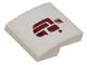 Part No: 15068pb141  Name: Slope, Curved 2 x 2 No Studs with Dark Red Alien Symbol Pattern (Sticker) - Set 75205