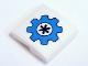 Part No: 15068pb148  Name: Slope, Curved 2 x 2 No Studs with Dark Azure Gear with Dark Blue Flower Pattern (Sticker) - Set 41346
