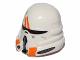Part No: 15308pb01  Name: Minifigure, Headgear Helmet SW Airborne Clone Trooper with Orange Markings Pattern