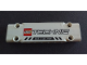 Part No: 15458pb018  Name: Technic, Panel Plate 3 x 11 x 1 with LEGO TECHNIC Logo, Black Stripes and 'MAX LOAD 250T' Pattern (Sticker) - Set 42042