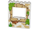 Part No: 15627pb007  Name: Panel 1 x 6 x 6 with Window with Tan Bricks, Grass and Leaves Pattern