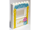 Part No: 15627pb016  Name: Panel 1 x 6 x 6 with Window with Bright Light Orange Pillars and Round Vase with Flowers Pattern