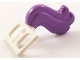 Part No: 18832pb01  Name: Minifigure, Costume Tail Horse with Medium Lavender Ends Pattern