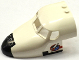Part No: 18907pb02  Name: Aircraft Fuselage Curved Forward 6 x 10 with 5 Window Panes with Shuttle Nose and Space Logo on White Background on Both Sides (Stickers) - Set 60080