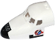 Part No: 18907pb03  Name: Aircraft Fuselage Curved Forward 6 x 10 with 5 Window Panes with Shuttle Nose and Space Logo on Transparent Background on Both Sides (Stickers) - Set 60078