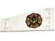 Part No: 18945pb002L  Name: Technic, Panel Plate 5 x 11 x 1 Tapered with Gold FIRE DEPT. with Phoenix Logo Pattern Model Left Side (Sticker) - Set 42040