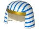 Part No: 18959pb01  Name: Minifigure, Headgear Nemes with Gold Trim and Blue Stripes Pattern