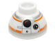 Part No: 20952pb01  Name: Brick, Round 1 1/2 x 1 1/2 x 2/3 Dome Top with SW BB-8 Droid Head, Small Photoreceptor Pattern