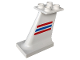 Part No: 2157px1  Name: Duplo Airplane Jetliner Tail with Red and Blue Stripes