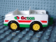 Part No: 2218c03pb01  Name: Duplo Car with 2 x 2 Studs and Green Base and Octan Logo Pattern