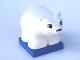 Part No: 2334c02pb03  Name: Duplo Bear Polar Cub on Blue Base, Squared Eyes