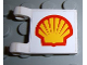 Part No: 2335pb011  Name: Flag 2 x 2 Square with Shell Logo Pattern on Both Sides (Stickers) - Set 2554