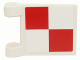 Part No: 2335pb026  Name: Flag 2 x 2 Square with SpongeBob Red and White Checkered Pattern (Sticker)