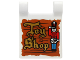 Part No: 2335pb139  Name: Flag 2 x 2 Square with Gold 'Toy Shop' and Nutcracker Drummer on Wood Background Pattern