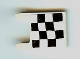 Part No: 2335pb141  Name: Flag 2 x 2 Square with Checkered Pattern on One Side, 2 Black Diagonal Corners (Sticker) - Set 4982